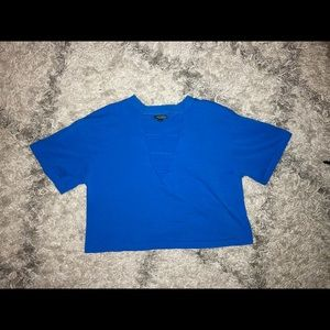 Blue Open Front Shirt